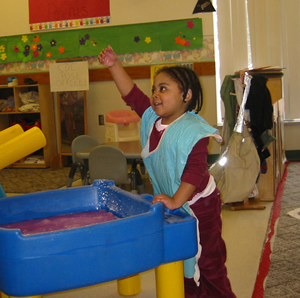 Child playing at Child Development Center