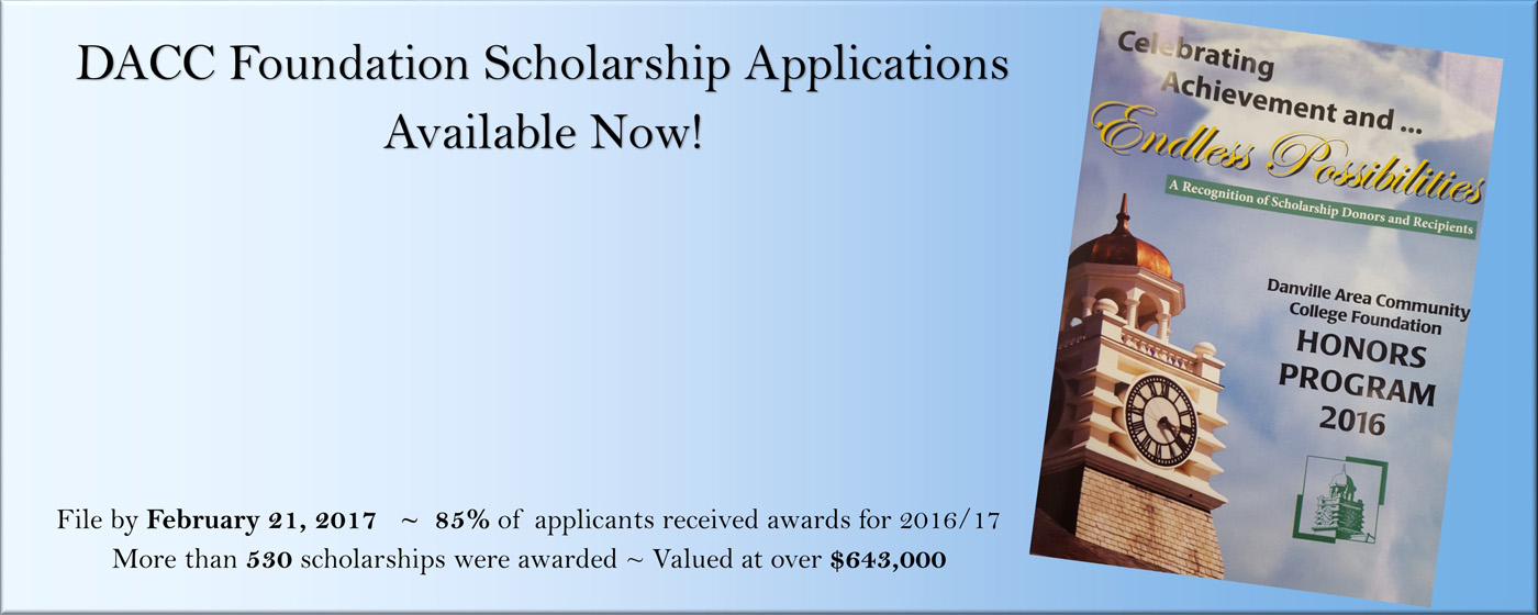 Foundation Scholarship Apps Available